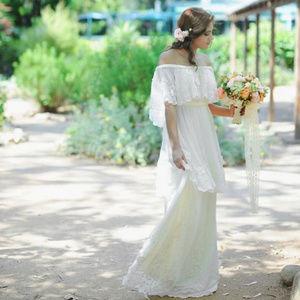 Anthropologie BHLDN Dulcinea Floral Wedding Dress